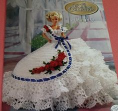 Miss July Cotillion Crochet Barbie Dress Pattern by Annie's Attic via Etsy..I have all the BedDolls...love them