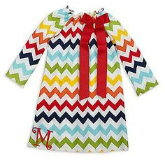 So cute! Love this Rainbow Chevron Charlotte Dress for $29.00. Available at lollywollydoodle.com.