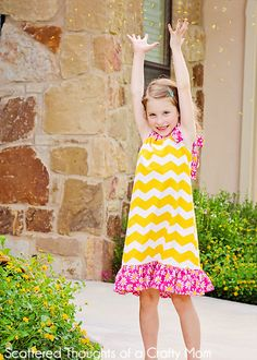 Scattered Thoughts of a Crafty Mom: The Polished Pillowcase Dress (How to make a Pillowcase Dress w/ many options)