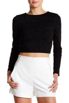 Long Sleeve Cropped Pullover
