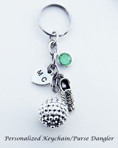 A personal favorite from my Etsy shop https://www.etsy.com/listing/463488039/dangling-key-chain-dangling-keyring
