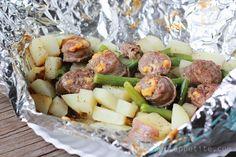 Italian Sausage and Potato Tin Foil Dinner - Easy To Make Family Recipes | One Sweet Appetite