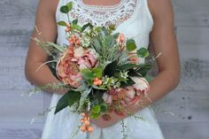 Hey, I found this really awesome Etsy listing at https://www.etsy.com/listing/263921061/succulent-bouquet-with-peonies