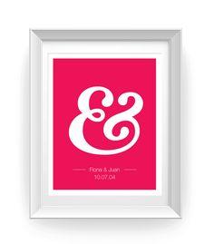 Ampersand Customized Wedding Print. $16.00, via Etsy.