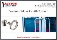 Action Locksmiths are your go-to guys for a Commercial Locksmith in Toronto. Whether you need an emergency lock change or just want to update your locks, you can always rely on us to be there. We have been serving Toronto since 1975!
