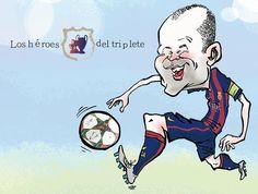 Iniesta by Kap. Mundo Deportivo
