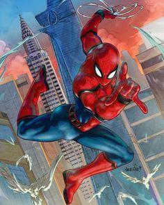 "(@spidey.marvel) på Instagram: ""Love this Spidey pose! Credit to @emmshin - - - - [ #spidermam #marvel #spidermanhomecoming ]"""