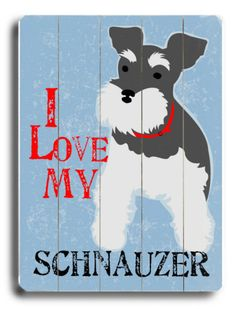 I love my mini schnauzer