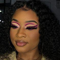 Glam Makeup Look, Edgy Makeup, Glamour Makeup, Baddie Makeup, Black Girl Makeup, Unique Makeup, Eye Makeup Art, Kiss Makeup, Cute Makeup