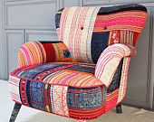 RESERVED ITEM for KSENIA: Thai Hmong patchwork armchair