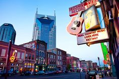 Nashville, TennesseeWe've been lusting over Nashville, since, well, the premiere of Nashville. In addition to being the capital of Tennessee, the city is also the capital of country music. Downtown Nashville is full of honky-tonk bars and venues where you can catch live shows — hence its nickname, Music City. Real country-music buffs should make a point of seeing both the Country Music Hall of Fame and the Johnny Cash Museum. Meanwhile, foodies will appreciate sampling Southern comfort…
