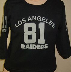 007782391 vintage 1980s Los Angeles Raiders football jersey t shirt youth Hutch  Polyester by vintagerhino247 on Etsy