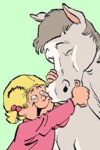 Jan, Jans en de kinderen - Kobus is de pony van Catootje die ze in deel 7 kreeg toen de familie Tromp naar Drente verhuisde en ging wonen op een boerderij. Catootje was al heel blij daarmee omdat ze dan bij har vriendje jeroentje kon blijven die ook al eerder naar Drenthe gaan verhuizen.