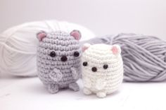 This is another kawaii-inspired free amigurumi pattern. It's a Sumikkogurashi polar bear from San-X! His name is Shirokuma, or white bear. White bear is afraid of strangers, but calms down when he...