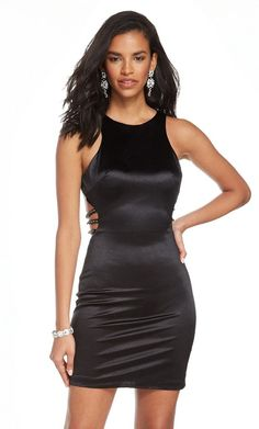 For your next special occasion, choose a dress that makes you feel confident and beautiful. Alyce 4084 is a chic party dress that is perfect for your upcoming Homecoming Dance, Wedding, or Birthday Celebration. Black Prom Dresses, Satin Dresses, Homecoming Dresses, Short Dresses, Homecoming Dance, Short Fitted Dress, Fitted Bodice, Sheath Dress, Bodycon Dress