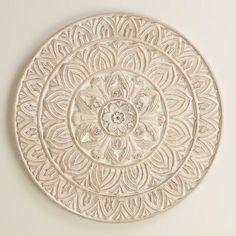 One of my favorite discoveries at WorldMarket.com: Whitewashed Round Wood Shaila…
