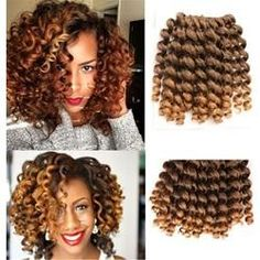 Quality Inch Wand Curl Crochet Hair Extensions Ombre Kinky Twist Hair Crotchet Braids Synthetic Crochet Braids Hair Extensions with free worldwide shipping on AliExpress Mobile Curly Crochet Hair Styles, Crochet Braids Hairstyles, Twist Hairstyles, Curled Hairstyles, Crotchet Styles, Hairstyles 2018, Extensions Ombre, Crochet Hair Extensions, Braid In Hair Extensions