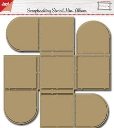 6002/0858 Scr@p Stencil - Mini album Mini Albums, Mini Album Tutorial, Card Book, Diy Gift Box, Baby Album, Scrapbook Templates, Mini Scrapbook Albums, Handmade Journals, Book Making