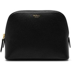 Mulberry Make Up Bag (2505 MAD) ❤ liked on Polyvore featuring beauty products, beauty accessories, bags & cases, makeup bag case, cosmetic purse, toiletry kits, travel kit and toiletry bag