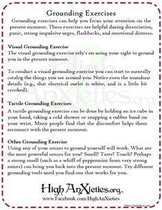 Grounding Exercises
