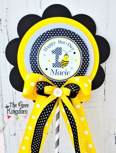 Bumble Bee Centerpiece Deluxe XL Birthday By Thepaperkingdom