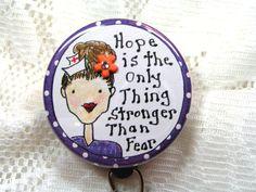 purple polka dot id badge holder for nurse,retractable id badge reel for…