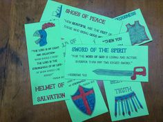 Armor of God Bookmarks- Free Printables