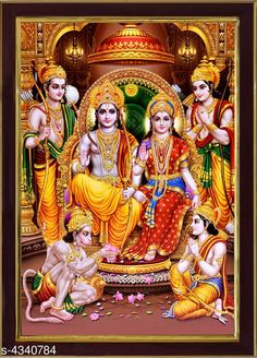 Checkout this latest Paintings & Posters Product Name: *SAF Lord Ram Darbar Sparkle Coated Digital Reprint 13.25 inch x 9.25 inch Painting* Product Length: 25 cm Product Breadth: 35 cm Multipack: 1 Country of Origin: India Easy Returns Available In Case Of Any Issue   Catalog Rating: ★4 (3184)  Catalog Name: Attractive Trendy Wall Posters Vol 14 CatalogID_622837 C127-SC1611 Code: 861-4340784-642