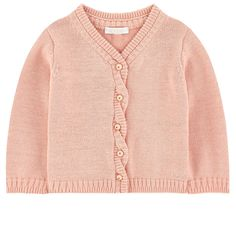 Wool and cotton knit Pleasant to the touch V neck Straight fit Long sleeves Gathered cuffs Buttons on the front Embroidered brand - $ 162
