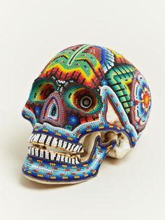dia del murte: Beaded Skulls from Mexico