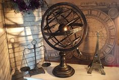 アンティーク アーミラリ天球儀 Metal Armillary Sphere [不思議雑貨店ネバーランド]