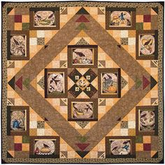 Fabric collection: A Year to Crow About by Jacqueline Paton for Red Rooster Fabrics  Get the free quilt pattern here: http://www.allpeoplequilt.com/quilt-patterns/creative-panel-quilts?page=20
