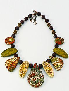 Sabine S., beautiful mokume necklace.