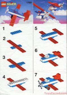 Lego Building Project For Kids 118 - mybabydoo Lego Design, Lego Poster, Instructions Lego, Lego Therapy, Lego Plane, Lego City Airplane, Lego Machines, Baby Boy Toys, Lego Challenge