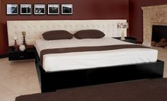 I LOVE platform beds! I will have a platform bed, similar to this one but with a tall head board.