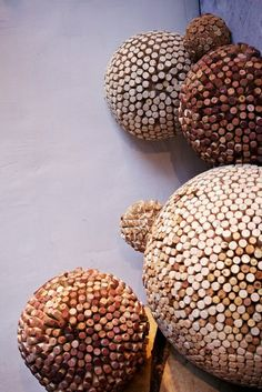 Basteln originell massiv Korken kugel deko