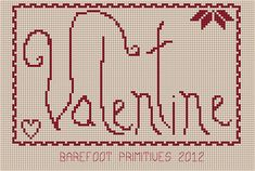 And just in time for your Valentine stitchin'..... my first FREE PATTERN for you! Just click on the image to enlarge it.... right click.....