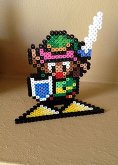 The Legend of Zelda - A Link To The Past Inspired 3D Link via eb.perler. Click on the image to see more!