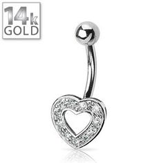 14k gold on belly rings belly button rings
