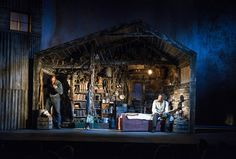 Of Mice and Men. Longacre Theatre. Scenic design by Todd Rosenthal.