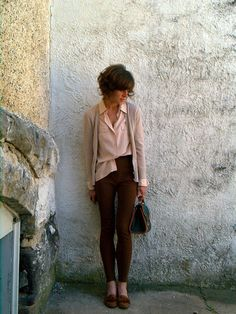 pink and brown.