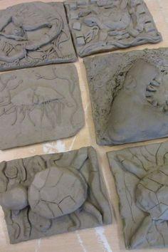 Sea creatures clay tiles