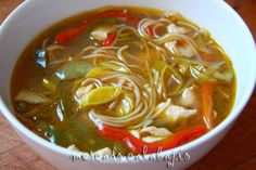 Sopa china de pollo y verduras (facilísima) - Mercado Calabajío