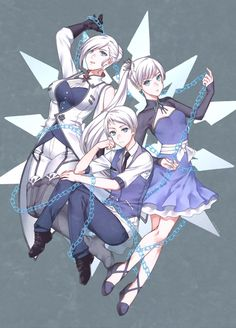 RWBY: Chained Together - Schnee Siblings - Winter, Weiss, & Whitely Rwby Anime, Rwby Fanart, Fanarts Anime, Rwby Winter, Rwby Weiss, Rwby Oc, Manhwa, Anime Siblings, Winter Schnee
