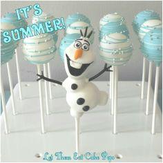 Olaf cake pops by Let Them Eat Cake Pops ~ www.LetsEatCakePops.com #olaf #FROZEN #cakepops
