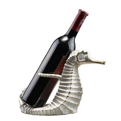 by Seaside Accents by Spi-Home Scituate Seahorse Wine Bottle Holder Coastal Style, Coastal Decor, Seaside Decor, Coastal Living, Wine Bottle Holders, Glass Holders, Wine Bottles, Types Of Wine, Wine Stoppers