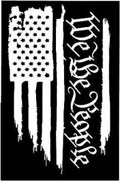 American Flag We The People Constitution vinyl die cut sticker decal