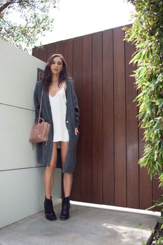 How fashion blogger Rumi Neely styles the ARE YOU AM I slip dress.