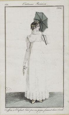 Costume Parisien, 1811, From the Bibliothèque des Arts Décoratifs via SceneInThePast flickr. plate 1152