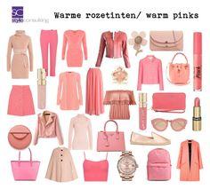 """""""Warme rozetinten/ warm pinks."""" By Margriet Roorda-Faber."""